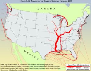 Waterway Freight Transportation Density