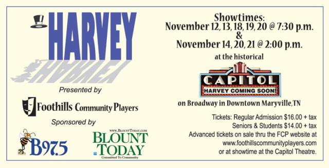 Foothills Community Players presents Harvey by Mary Chase